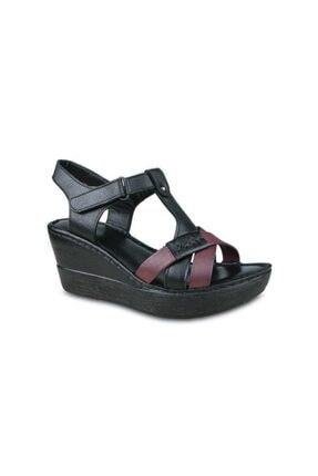 Ceyo 304 Hakiki Deri Dolgu Topuk Sandalet