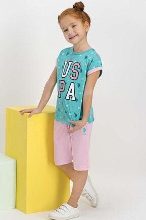 U.S Polo Assn. Lisanslı Aqua Kız Çocuk Kapri Takım
