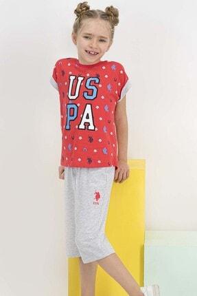 U.S Polo Assn. Lisanslı Nar Kız Çocuk Kapri Takım