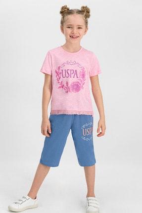 U.S Polo Assn. Lisanslı Somon Kız Çocuk Kapri Takım