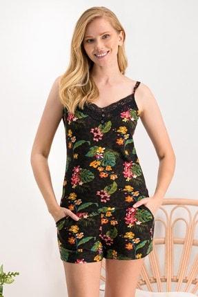 Arnetta Kadın Summer Tropical Kahverengi Şort Takım