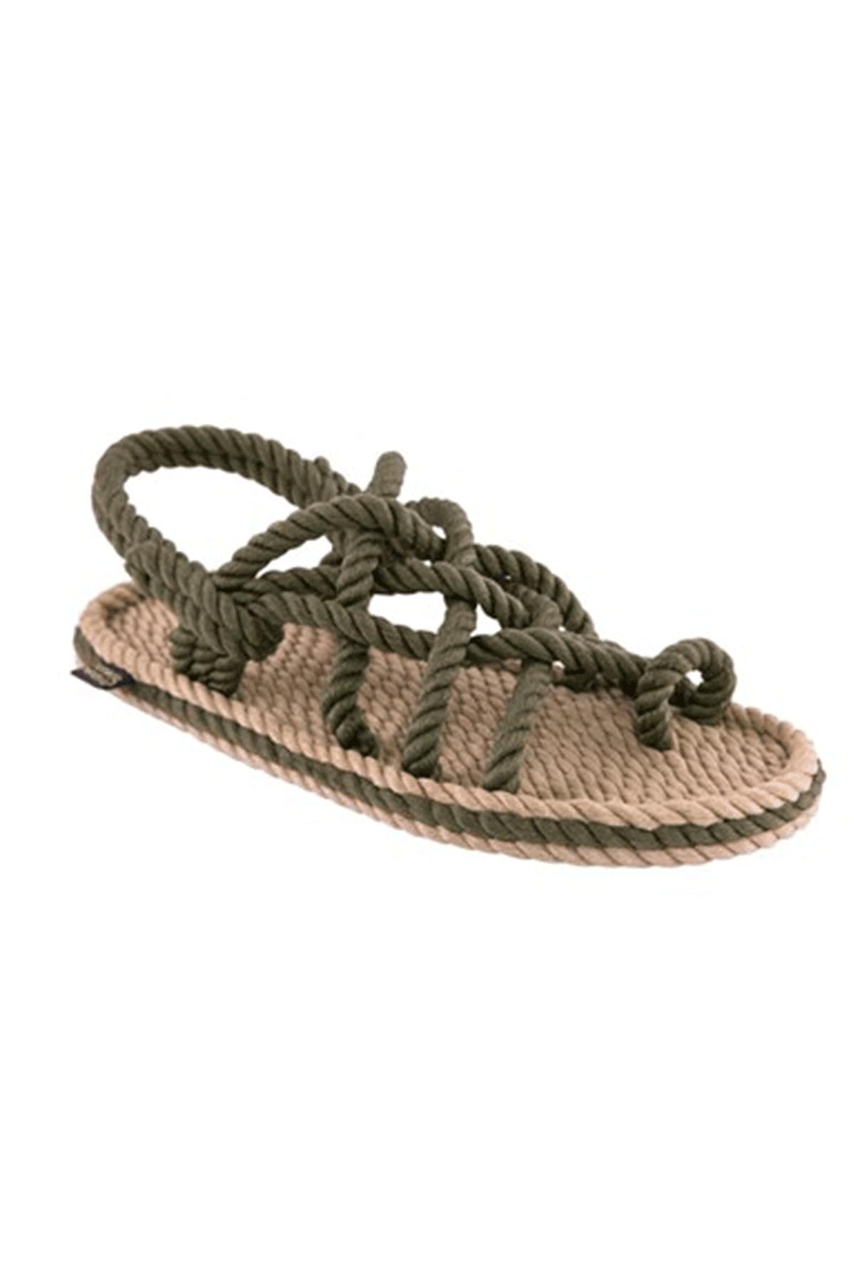 NOMADIC REPUBLIC Nomadic Bej Haki Kadın Halat  Sandalet NOM1211K