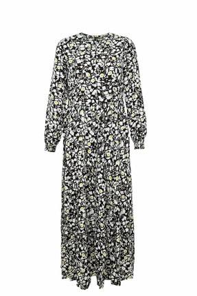 DeFacto Kadın Siyah Kol Detaylı Dokuma Elbise N0361AZ.20SP.BK27