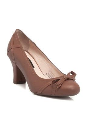 Tergan Hakiki Deri Taba-Analin Kadın Klasik Topuklu Ayakkabı K19I1AY64192