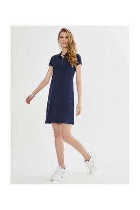 XINT Polo Yaka Pamuklu Basic Elbise