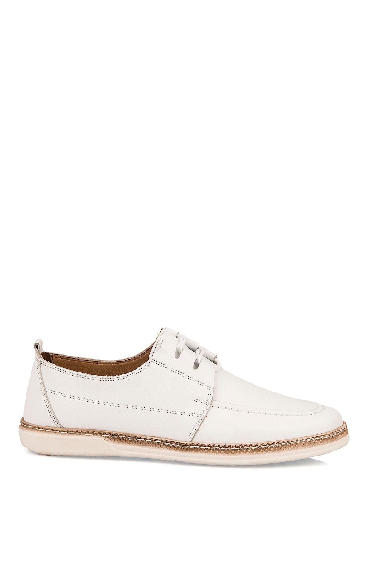 Ziya Hakiki Deri Beyaz Erkek Ayakkabı 101415 506064