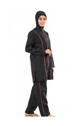ALFASA Kadın Siyah Uzun Kol Pantolon Tam Kapalı Tesettür Mayo
