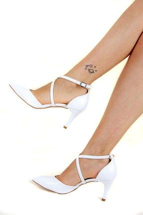 Fox Beyaz Kadın Topuklu Ayakkabı D654054809