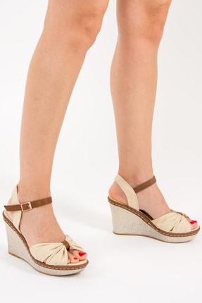 Fox Bej Kadın Dolgu Topuklu Ayakkabı F674040405
