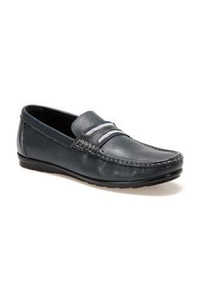 Oxide Hakiki Deri Lacivert Erkek Loafer Ayakkabı LF1