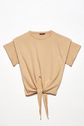 Dilvin Kadın Camel Önü Bağlamalı Vatkalı Bluz 101A03517