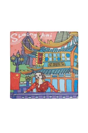 Deriderim Shanghai Desenli Fular & Bandana