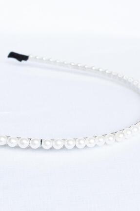New Look Kadın Mini Beyaz İnci Taç 4775