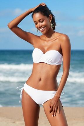 No Gossip Kadın Straplez Kaplı Bikini Üst 209105 Beyaz