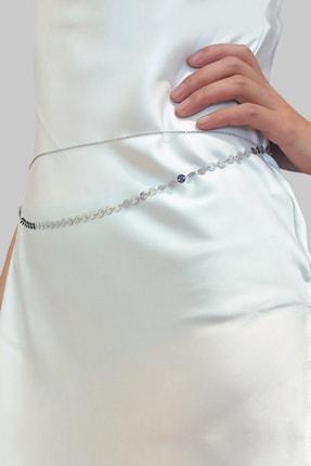 Hane14 Shine Minik Pullu Bel Zinciri 2'li Silver