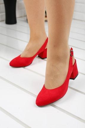 Ayakland 97544-307 5 Cm Topuk Bayan Süet Sandalet Ayakkabı