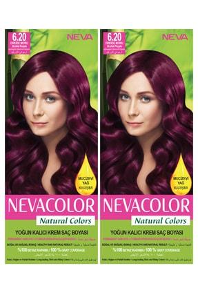 Neva Color 2'li Natural Colors 6.20 Orkide Moru - Kalıcı Krem Saç Boyası Seti 8681655541773