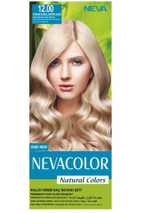 Neva Color Natural Colors 12.00 Yoğun Doğal Süper Açıcı - Kalıcı Krem Saç Boyası Seti 8681655541738
