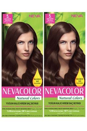 Neva Color 2'li Natural Colors 5.66 Şarap Kızılı - Kalıcı Krem Saç Boyası Seti 8681655541769