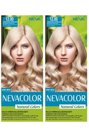 Neva Color 2'li Natural Colors 12.00 Yoğun Doğal Süper Açıcı - Kalıcı Krem Saç Boyası Seti