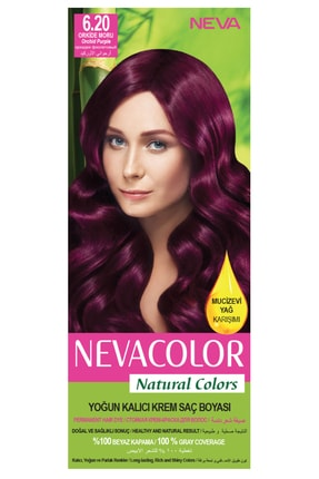 Neva Color Natural Colors 6.20 Orkide Moru - Kalıcı Krem Saç Boyası Seti