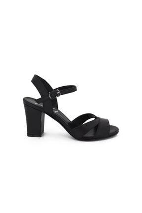 Hobby Siyah Topuklu Yazlık Kadın Ayakkabı Lp0038