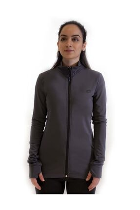 Lotto Kadın Antrasit Sweatshirt Davide Sweat Fz Pl W-r9575