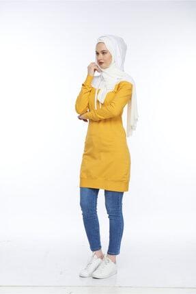 Allegro Gold Kadın Sarı Ve Beyaz Kazak