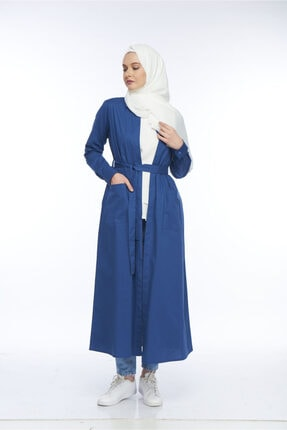 Allegro Gold Uzun Mavi Açık Ceket