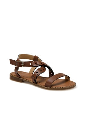 Missf Ds20020 Kahverengi Kadın Sandalet