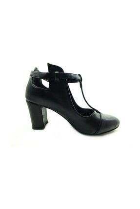 Almera Topuklu Kadın Ayakkabı - Siyah-Lazer - 820