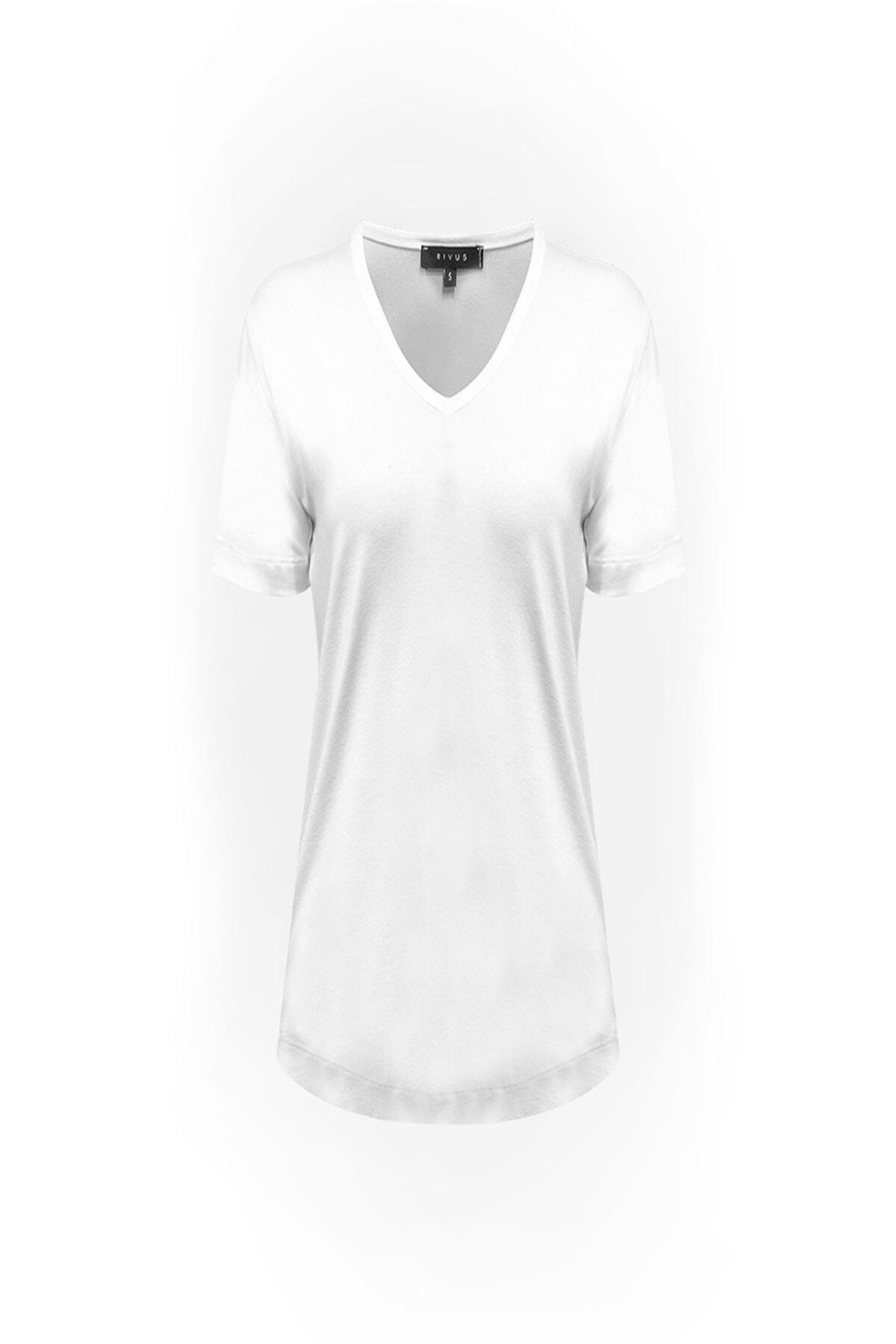 RİVUS V Yaka Basic T-Shirt 1512-1