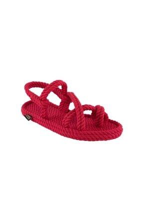 NOMADIC REPUBLIC Kadın Kırmızı Sandalet