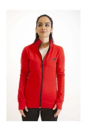 Lotto Sweatshirt Kadın Kırmızı Davide Sweat Fz Pl-r9577