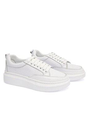 Letoon 2001 Kadın Günlük Deri Ayakkabı - Beyaz