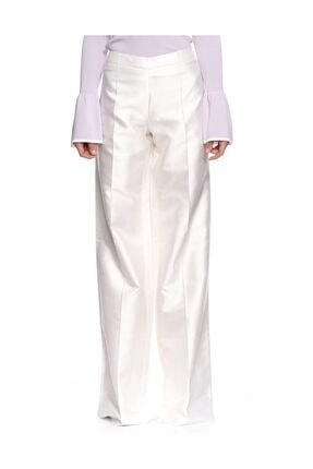 Ferre Geniş Kesim Beyaz Pantolon
