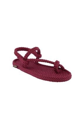NOMADIC REPUBLIC Hawaii Kadın Halat & Ip Sandalet - Bordo
