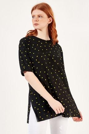 Manche Limon Kadın Limon Ve Kiraz Baskılı T-shirt | Mk20s264941