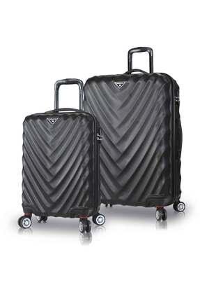 My Valice Unisex Lotus Abs 2'li Valiz Seti (Kabin ve Büyük) Siyah
