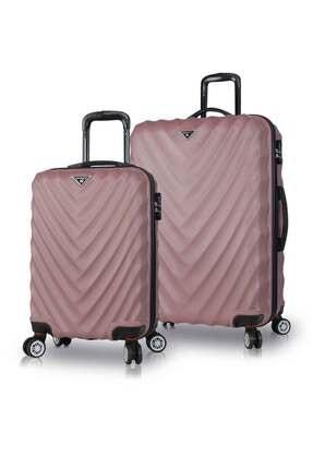 My Valice Unisex Lotus Abs 2'li Valiz Seti (Kabin ve Büyük) Rose