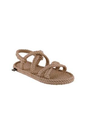 NOMADIC REPUBLIC Tahiti Kadın Halat & Ip Sandalet - Bej