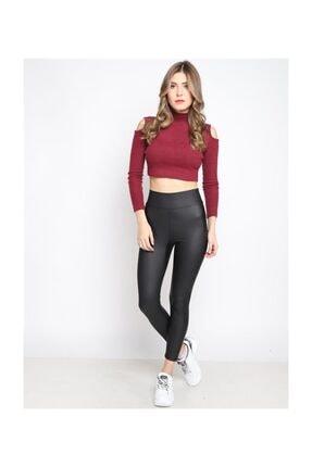Twister Jeans Deri Mat Şardonlu Tayt 8001 Sıyah
