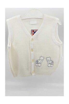 Albimini Erkek Bebek Yelek Triko (albı17265) Beyaz 2