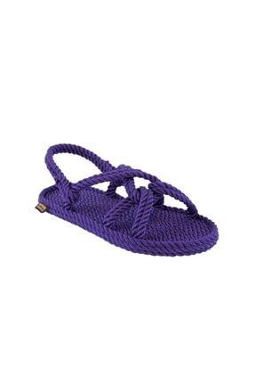 NOMADIC REPUBLIC Kadın Halat Ip Sandalet - Mor