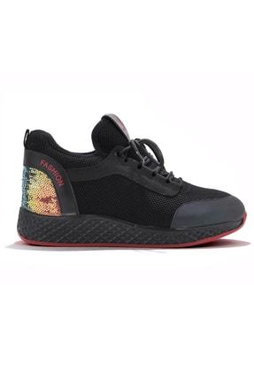 Guja Siyah Topuk Taşlı Renkli Spor Ayakkabı