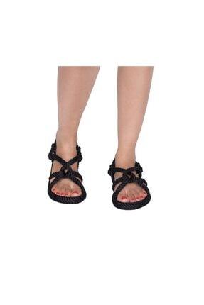 NOMADIC REPUBLIC Bora Bora Kadın Halat & Ip Sandalet - Siyah