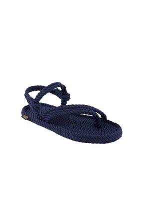 NOMADIC REPUBLIC Kadın Cancun Halat & Ip Sandalet - Lacivert