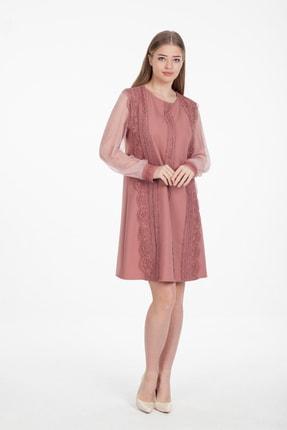 Kadın Pudra Rengi Elbise 41966