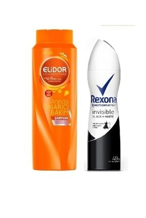 Rexona Invisible Balck & White 150 Ml + Elidor Onarıcı Şampuan 185 Ml