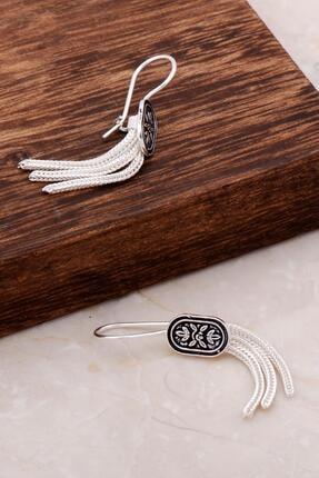 Sümer Telkari Asur Motifli Elişi Sallantılı Gümüş Küpe 4913